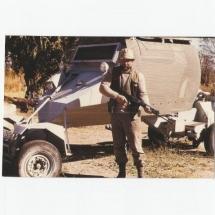 1980 Namíbiai farmunkon, ahol fél évet (kellett) szolgálnom a Zambézi Ranger terrorelhárító egységben