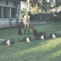 1979-ben, Tanzánia, Dr. Nagy Endre fővadásza. Bivalyterítékem.